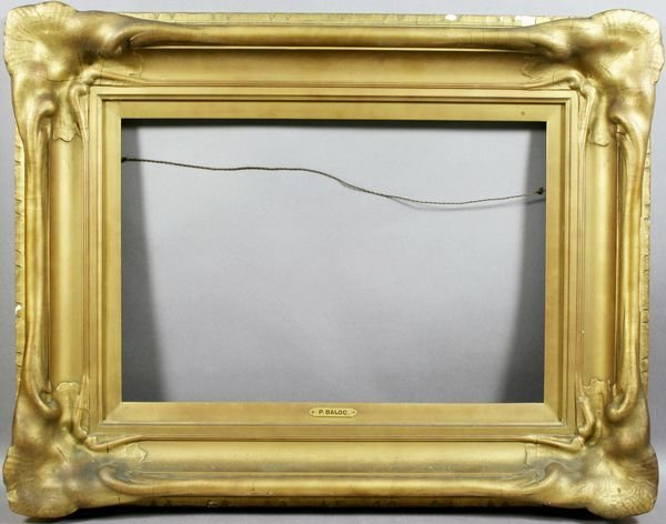 4009: Period Art Nouveau Gilt and Gesso Frame