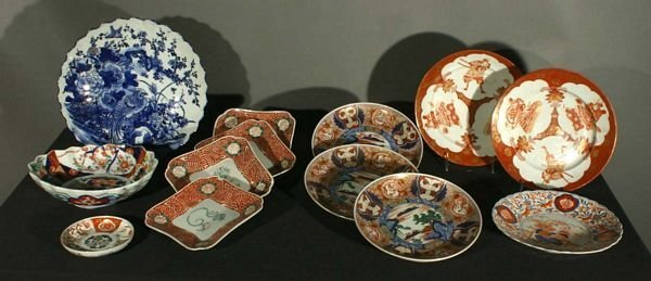4024: (13) Assorted 19/20th C. Imari Porcelain Plates a