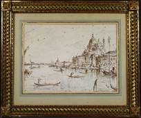 4300: Attributed to Francesco Guardi, Pen/Paper