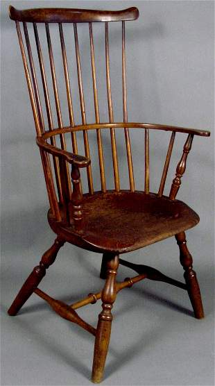 LATE 18TH CENTURY WINDSOR CHAIR SIGNED TUCKE