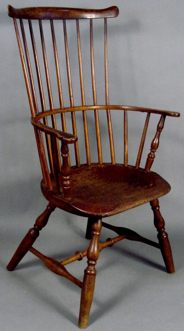 3: LATE 18TH CENTURY WINDSOR CHAIR SIGNED TUCKE