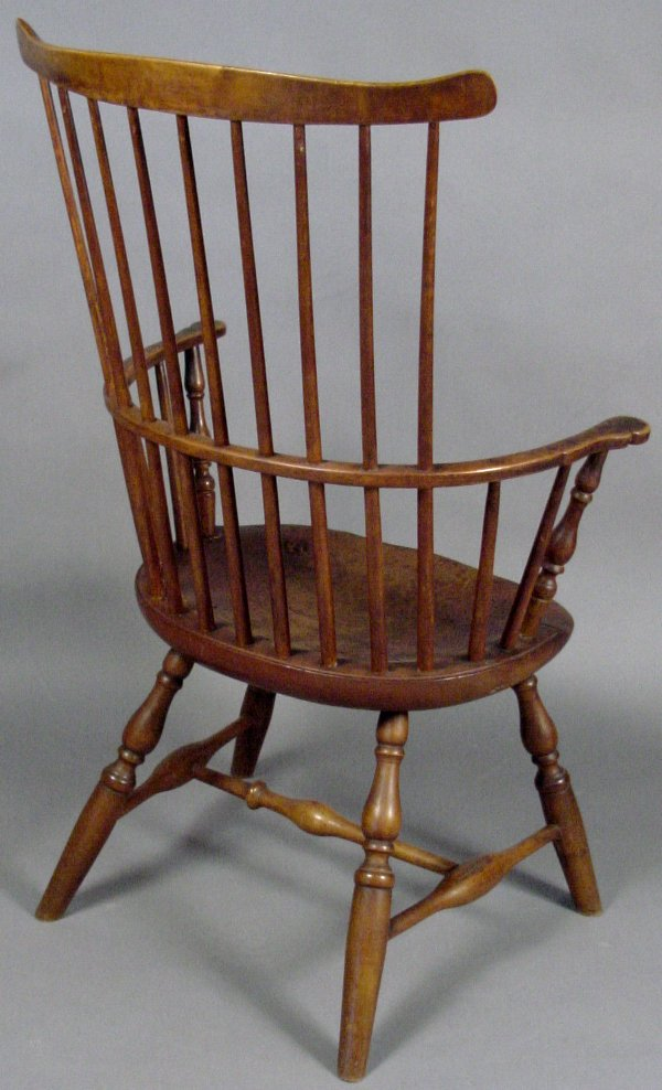 3: LATE 18TH CENTURY WINDSOR CHAIR SIGNED TUCKE - 2