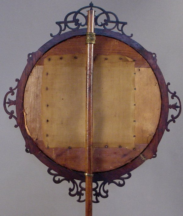 8: VICTORIAN POLE FIRE SCREEN WITH FRAMED NEEDLEWORK - 3