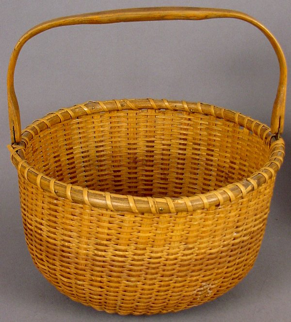 9: EARLY SWING HANDLED NANTUCKET BASKET