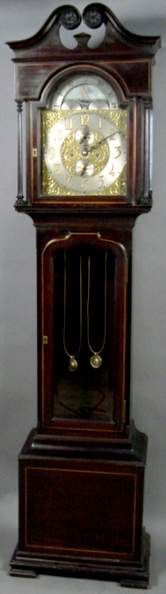 WALTHAM MAHOGANY GRANDMOTHER CLOCK