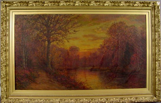 19A: SIGNED WILLIAM PASKELL OIL ON CANVAS LANDSCAPE