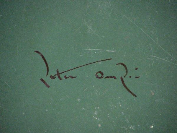 108: SIGNED PETER OMPIR FOLK ART TRAY - 4