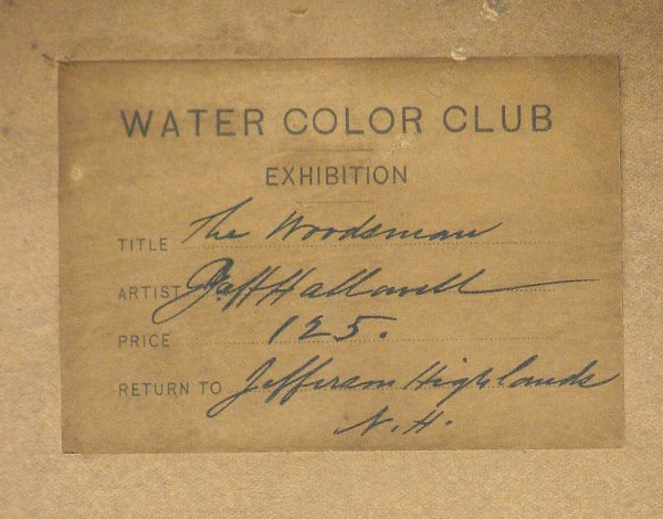 261: GEORGE HOWLEY HALLOWELL WATERCOLOR - 3