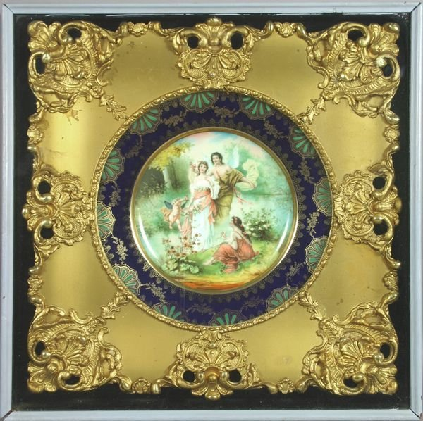 5008: 19th C. Royal Vienna, Figural Scene, O/Porcelain.