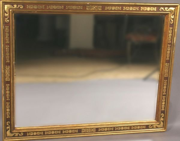 5010: Carved & Gilded Arts & Crafts Framed Mirror.