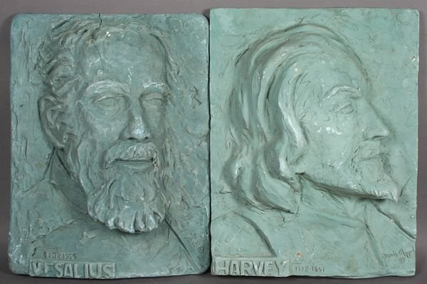 5015: Pair of D. Appel, Plaster Busts.