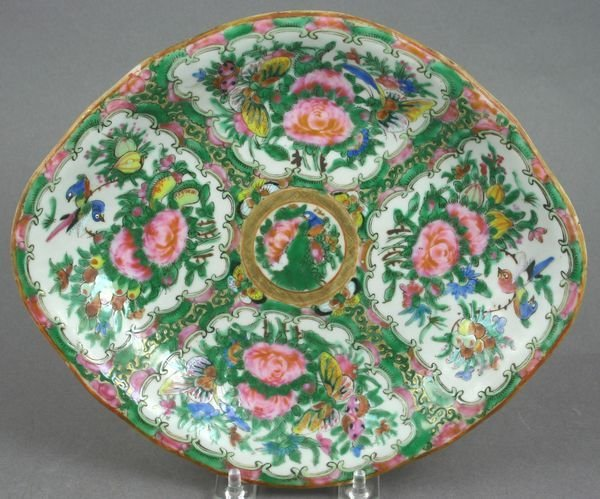 5021: 19th C. Rose Medallion Dish.