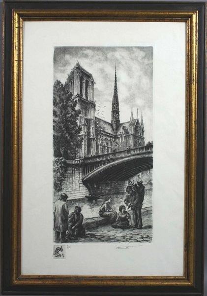 5252: Aimé Edmond d' Allemagne, Notre Dame, Print.