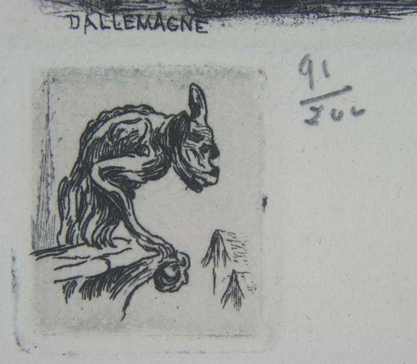 5252: Aimé Edmond d' Allemagne, Notre Dame, Print. - 2
