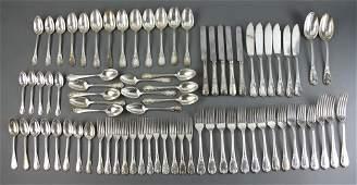 Christofle Silverplate Flatware, Marly Pattern