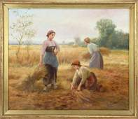 Jardines Collecting the Hay Oil on Canvas