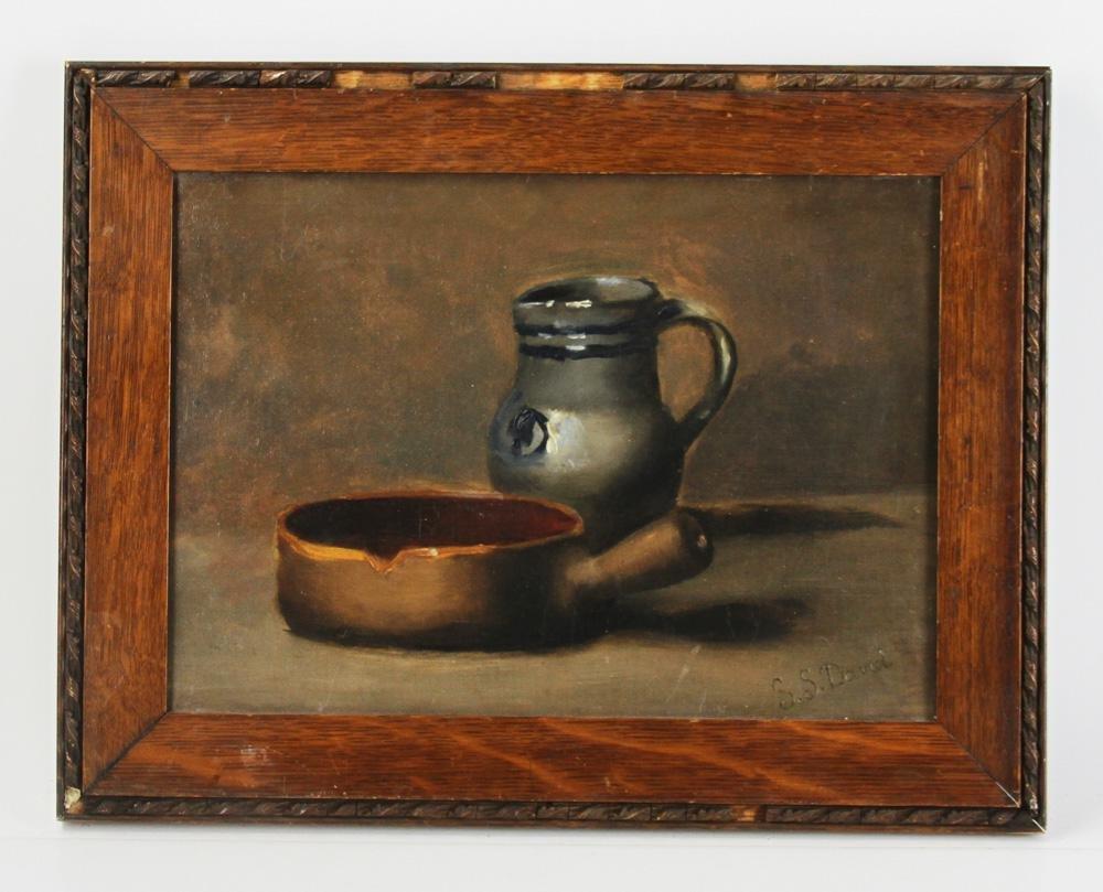 S. S. David Signed, Still Life, Oil on Canvas