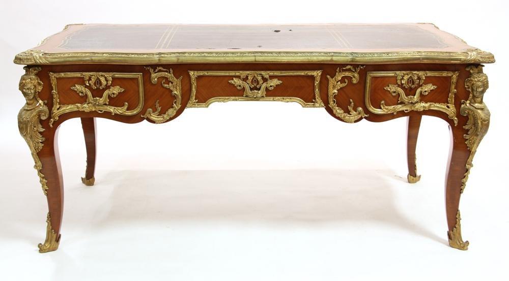Louis XV Style Bureau Plat Writing Desk