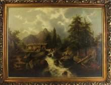 A. Lang Signed, Woodland Landscape, Oil on Canvas