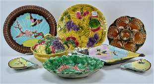 French and English Majolica Pieces