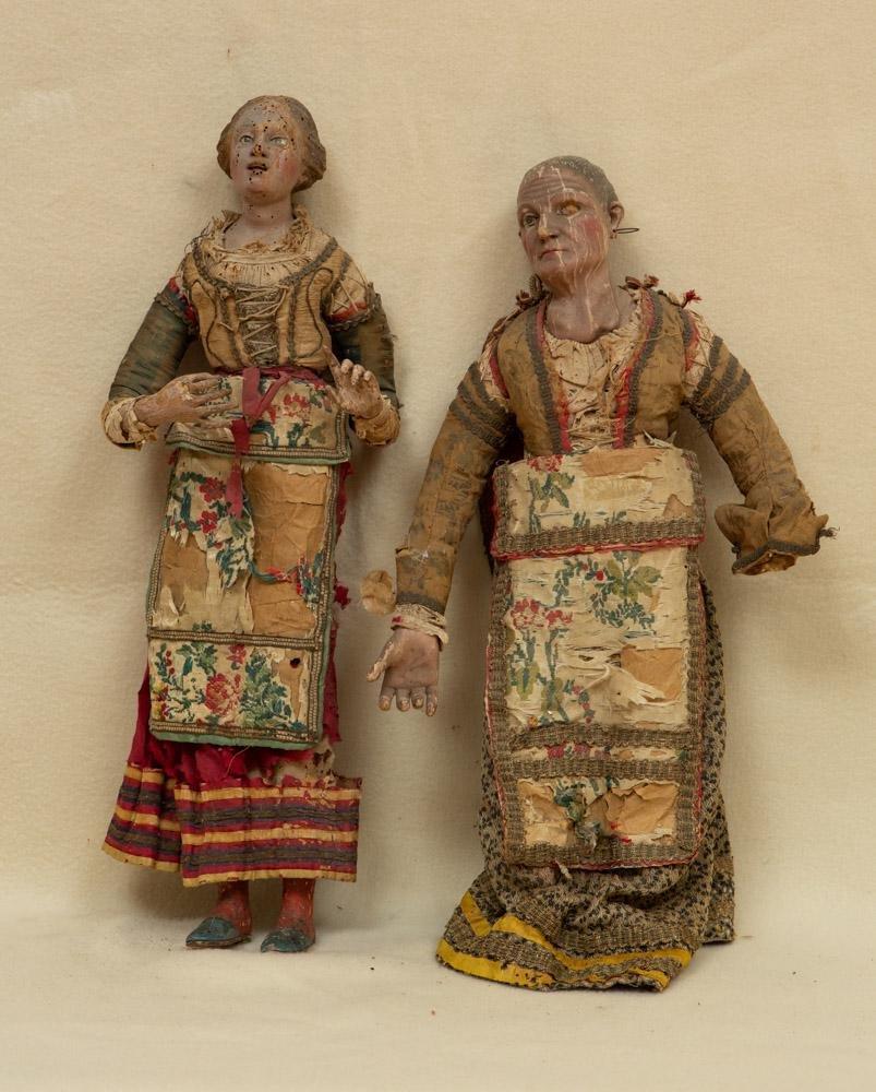 18thC Neapolitan Carved Figures