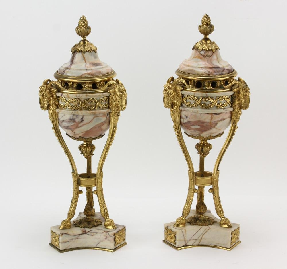 Pair of Mid/Late 19thC French Covered Urns