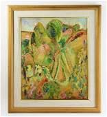 Alfred Maurer, Landscape, Gouache on Board