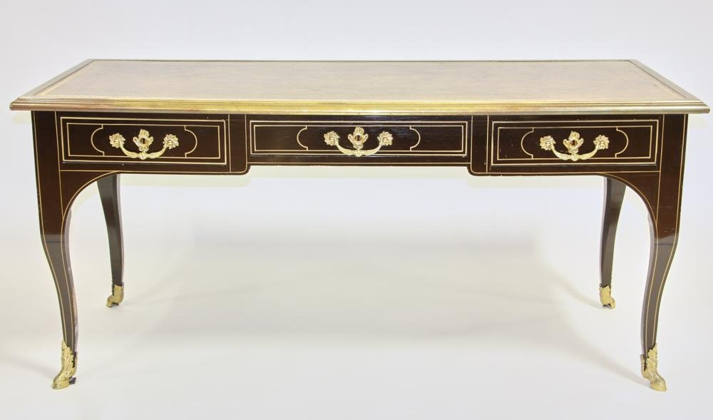 Louis XV Style Leather Top Writing Desk