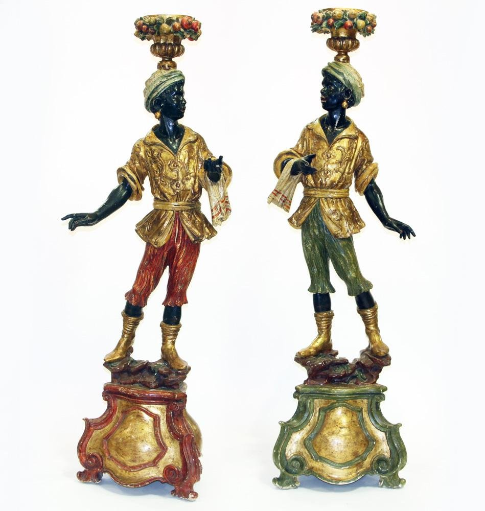 Pair of 19thC French Serviteurs Muets