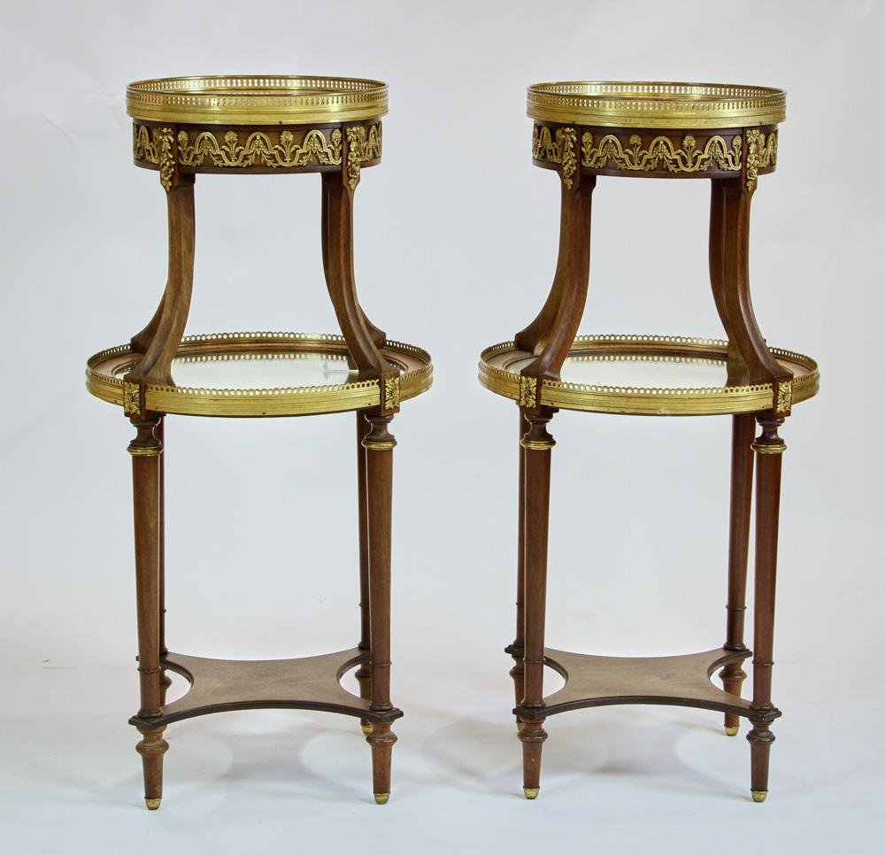 19thC French Ormolu Bronze Mounted Tables