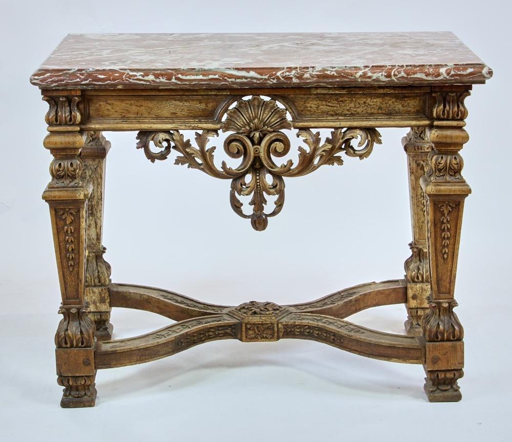 18thC Italian Carved Walnut Center Table