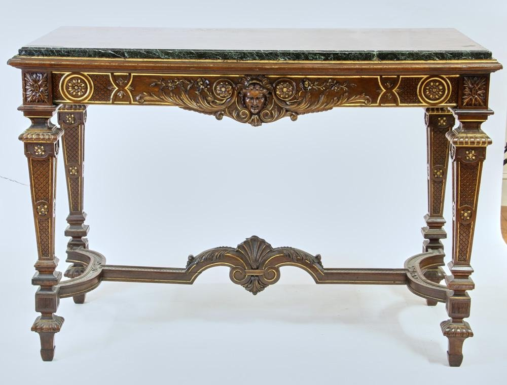 19thC French Carved Walnut Foyer Table