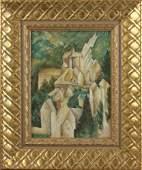 Georges Braque Attr. Castle in La Roche-Guyon, Oil on
