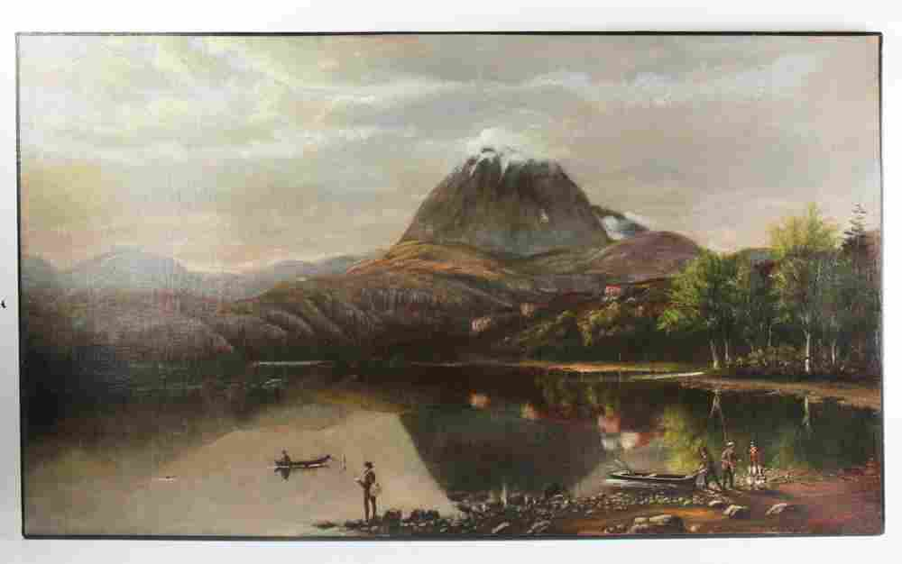 W. E. Clerk, Mt. Shasta, Oil on Canvas