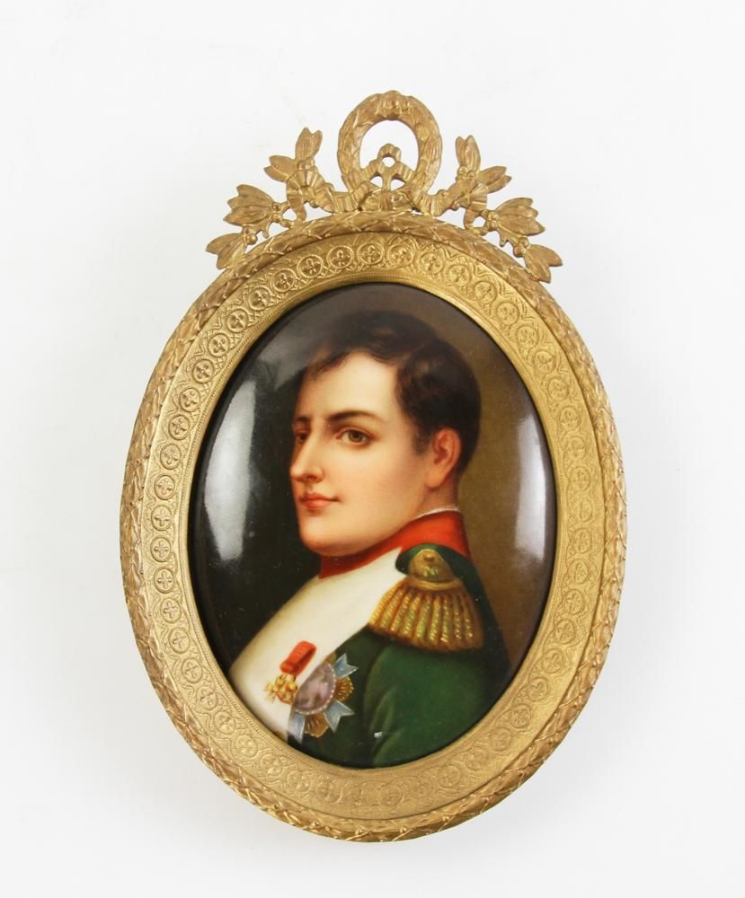 French Painting on Porcelain of Napoleon