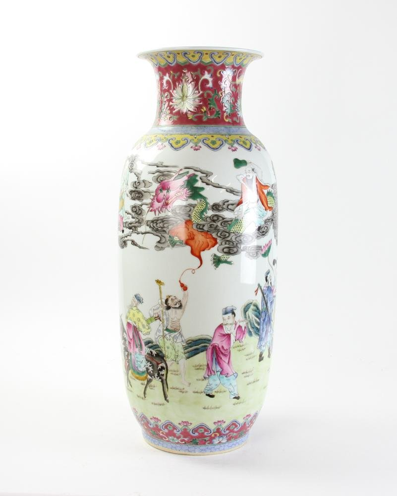 Large Chinese Famille Rose Porcelain Vase
