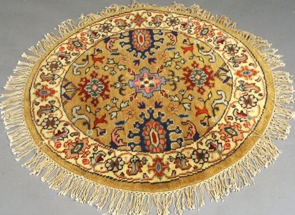 6: Indo Tabriz Rug, 3' x 3'.