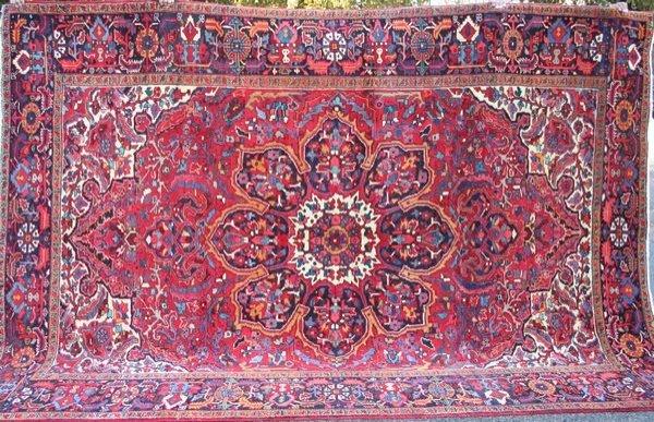 """7: Exceptional Persian Heriz Rug, 11' 2"""" x 8'."""
