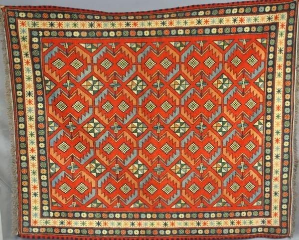 "8: Chechen Caucasian Rug, 6' 7"" x 5' 6""."