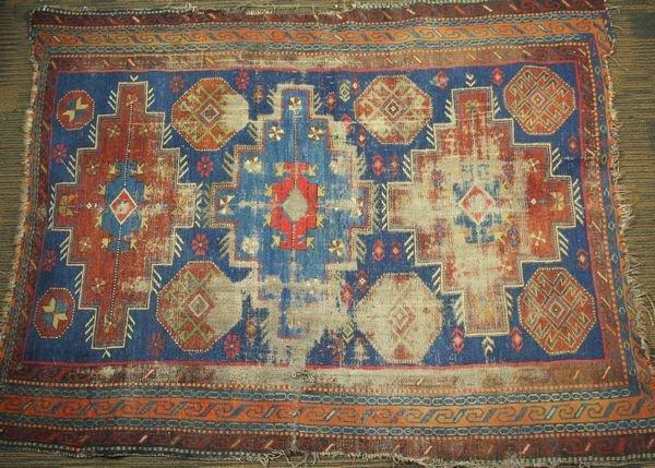 """16: Mid 19th Century Caucasian Kazak Rug, 4' 6"""" x 3' 7"""""""