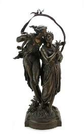 H Dumaige, Bronze, Demeter and Nymph