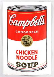 Warhol, Campbell's Chicken Noodle Soup, Screenprint