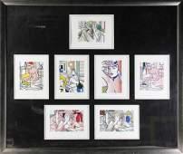 Roy Lichtenstein, Signed Prints of Nudes