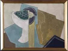 Attr to Juan Gris, Cubist Composition