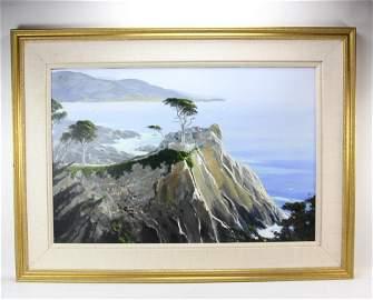 Jerry Van Megert, California Coast, Oil on Panel