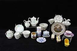 Collection of 19th C Pottery and China Miniatures