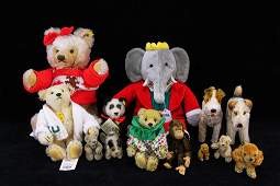 Collection of Vintage Steiff Bears