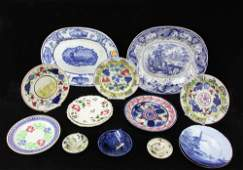 Group of Early Pottery and Porcelain Items