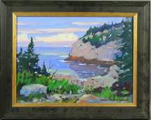 2134: Sgnd Paul Noble James Gull Cove Monhegan o/c