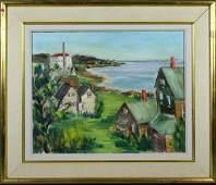 2282 Sgnd M Axelrod Cape Ann  Gloucester oc